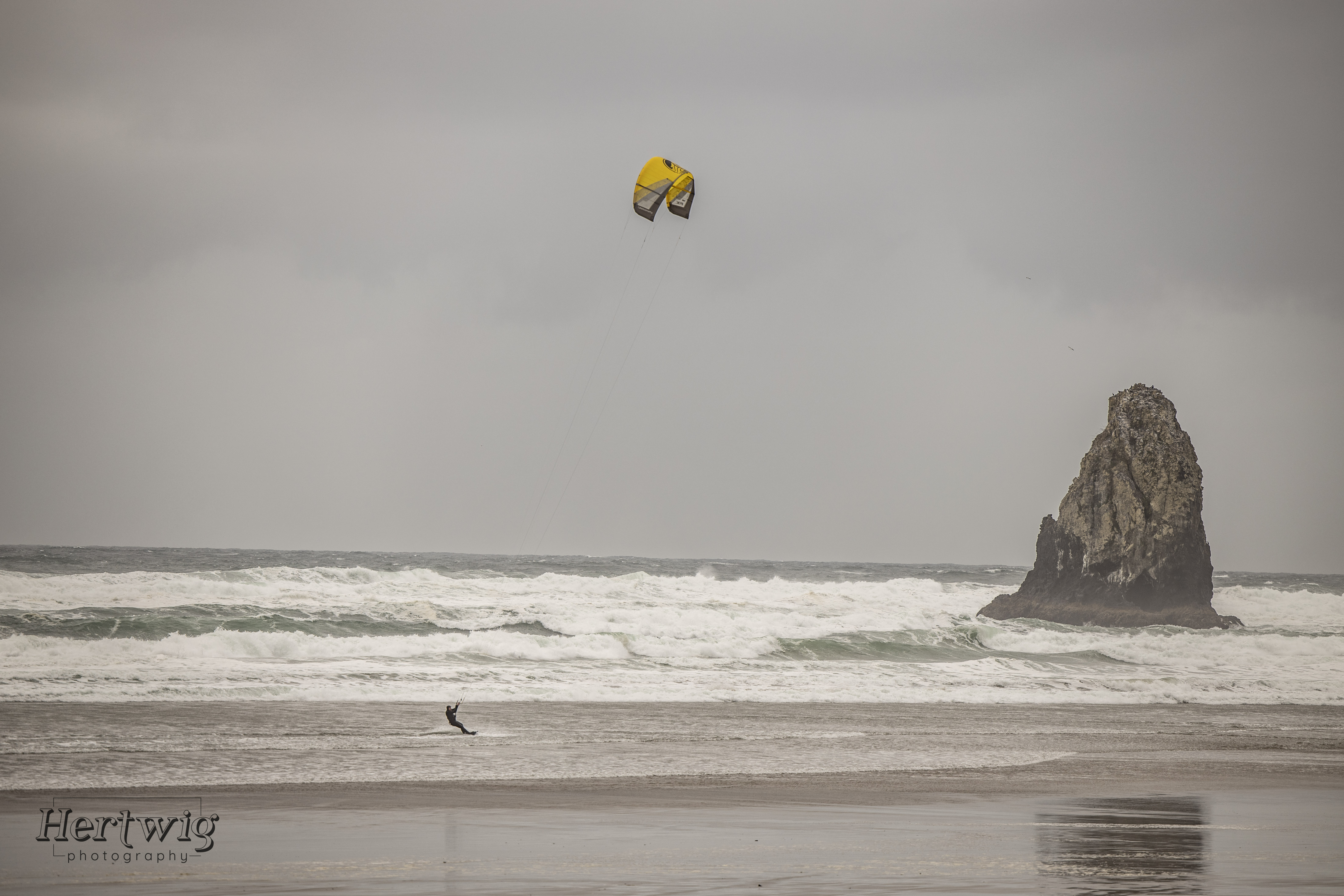 Winter Wind Surfer