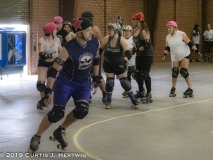 Jazzy Breaks Through the Line