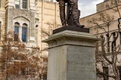 """Statue of cousin Thomas """"Stonewall"""" Jackson."""