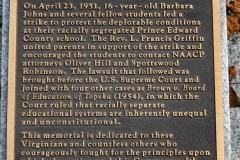 Plaque from the Civil Rights Memorial